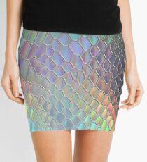 Holographic croc Mini Skirt