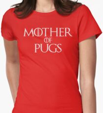 Mother of Pugs Parody T Shirt Womens Fitted T-Shirt
