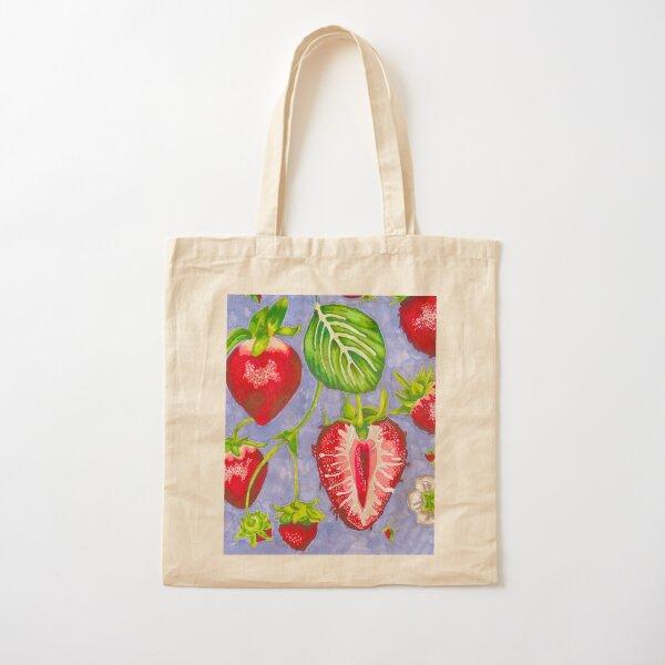 strawberry marker study Cotton Tote Bag