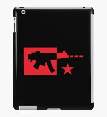 Red computer gamer digital machine gun iPad Case/Skin
