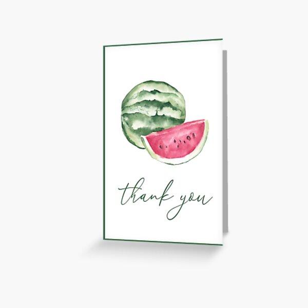 Watermelon Thank You Card Greeting Card