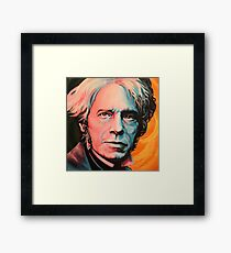 """Magnetic Moment"" Portrait of Michael Faraday Framed Print"