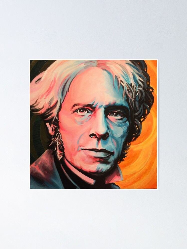 Michael Faraday Art Print Photo Poster Gift Quote Science