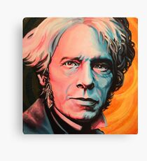 """Magnetic Moment"" Portrait of Michael Faraday Canvas Print"