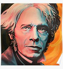 """Magnetic Moment"" Portrait of Michael Faraday Poster"