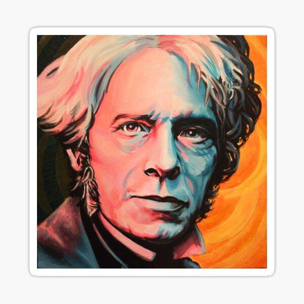 """Magnetic Moment"" Portrait of Michael Faraday Sticker"