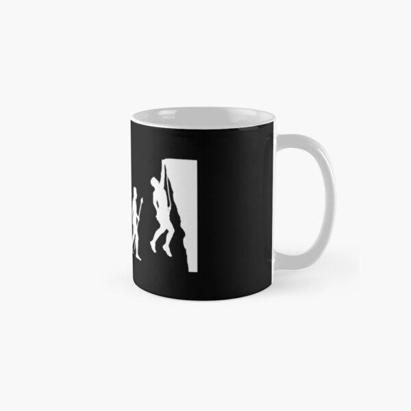 Funny Rock Climbing Evolution T Shirt Classic Mug