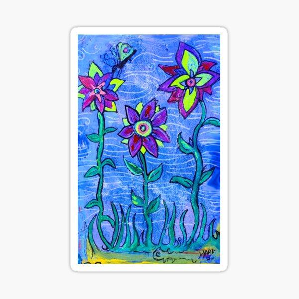 dragonfly garden  Sticker