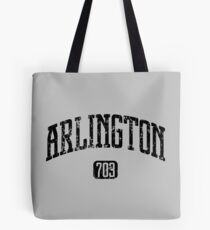 Arlington 703 (Black Print) Tote Bag