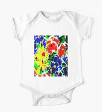 """FLOWER ART DECO""Style Abstract Print One Piece - Short Sleeve"