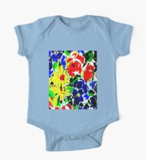 """""""FLOWER ART DECO""""Style Abstract Print One Piece - Short Sleeve"""