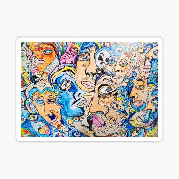 abstract faces  Sticker