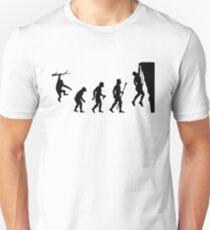Funny Evolution of Rockclimbing  Unisex T-Shirt