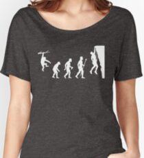 Camiseta ancha Funny Rock Climbing Evolution T Shirt