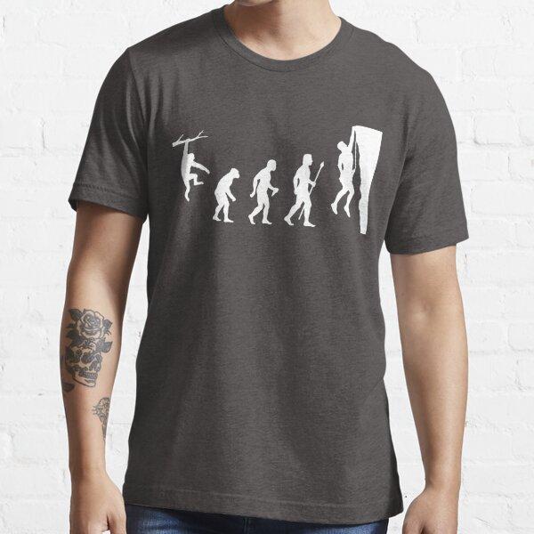 Funny Rock Climbing Evolution T Shirt Essential T-Shirt
