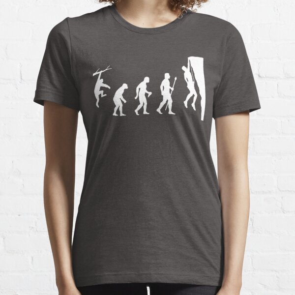 Funny Rock Climbing Evolution T Shirt Camiseta esencial