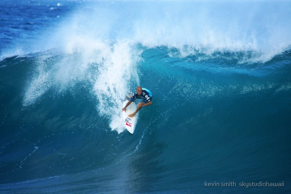 Kelly Slater Takeoff Pipeline Masters by kevin smith  skystudiohawaii