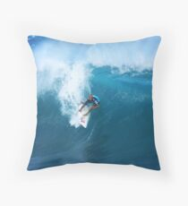Kelly Slater Takeoff Pipeline Masters Throw Pillow