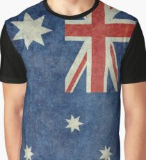 The National flag of Australia, retro textured version (authentic scale 1:2) Graphic T-Shirt