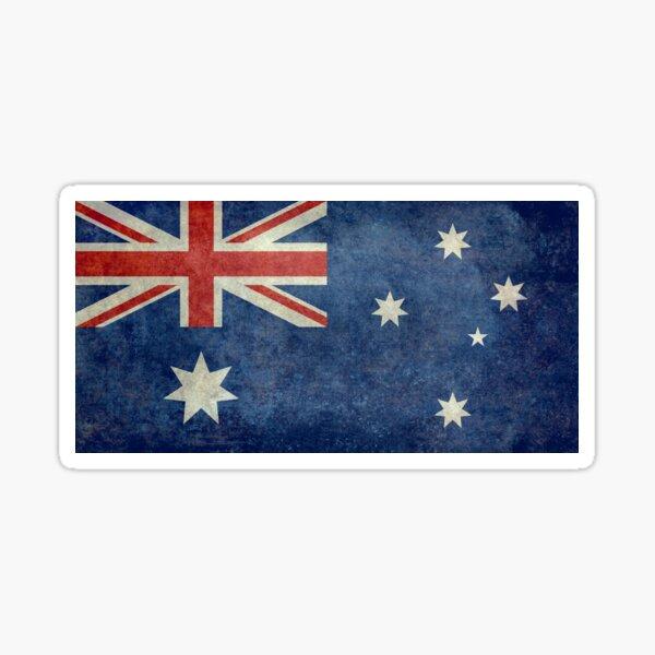 Flag of Australia, grungy retro textured version Sticker
