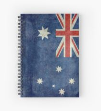 The National flag of Australia, retro textured version (authentic scale 1:2) Spiral Notebook