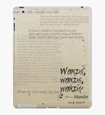 Hamlet: Words, Words, Words iPad Case/Skin
