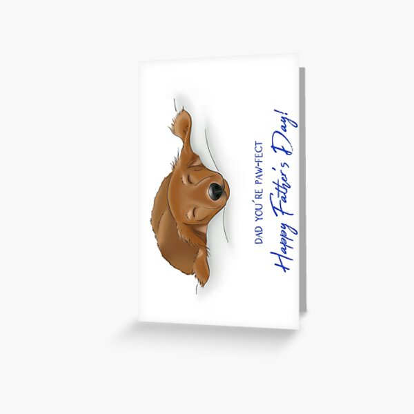 Sleeping Puppy Father's Day, Dad You're Paw-fect Greeting Card