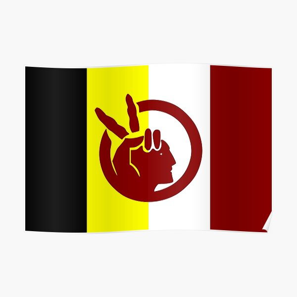 American Indian Movement Flag Poster