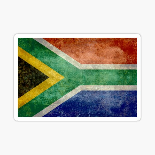 Flag of the Republic of South Africa Sticker