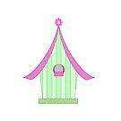 birdhouse clipart, drawing, simple art by Michelle *