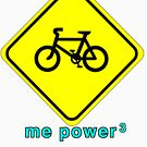 Me Power Bicycle T-Shirt by kevin smith  skystudiohawaii