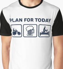 Funny Motorbike Plan For Today Graphic T-Shirt