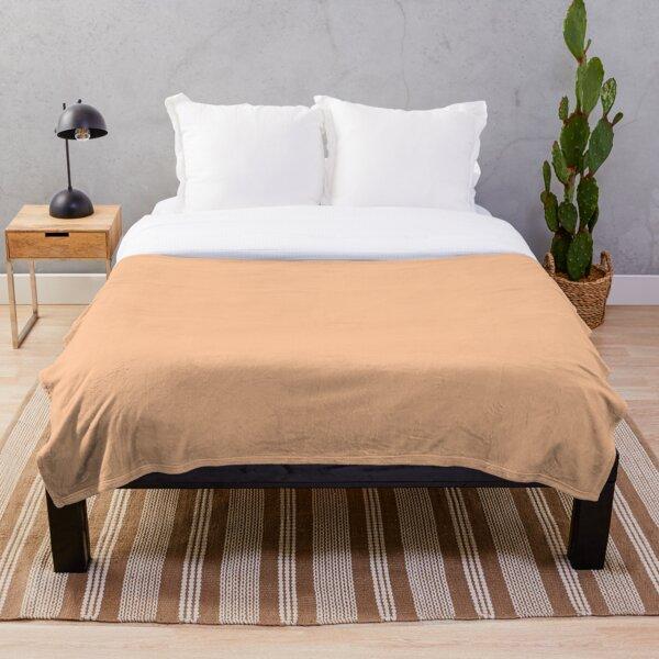 Peach Orange Color Throw Blanket