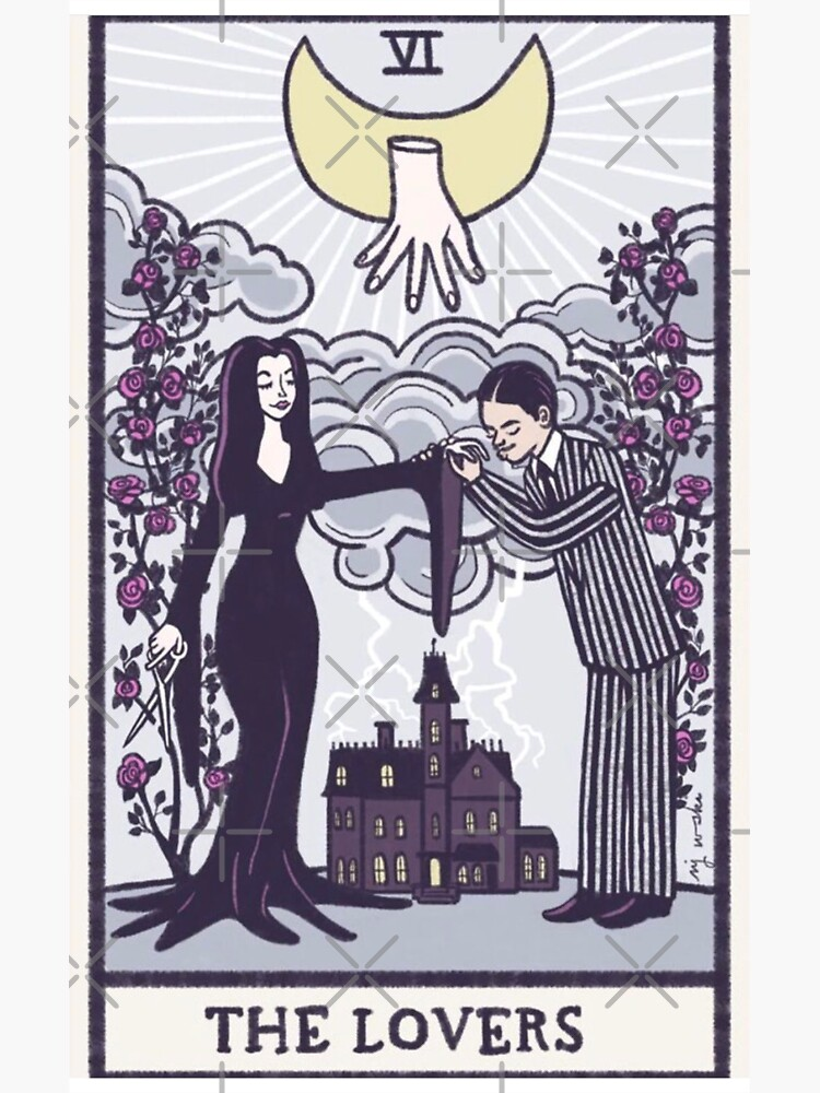 The lovers - tarot - Addams family by NomiBee