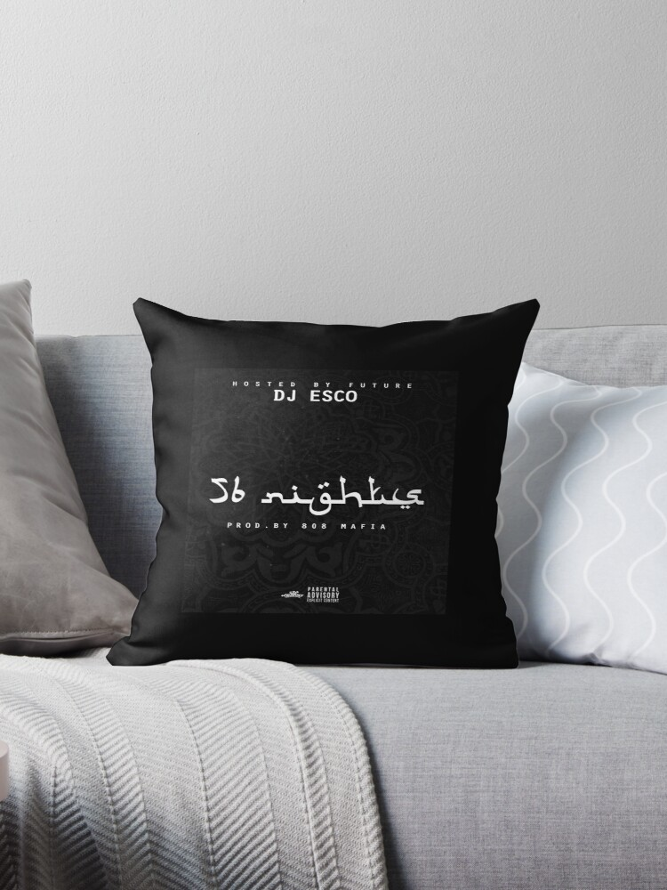'56 Nights Mixtape Artwork' Throw Pillow by TRILLart