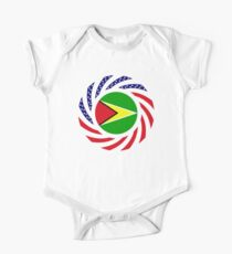 Guyanese American Multinational Patriot Flag  Kids Clothes