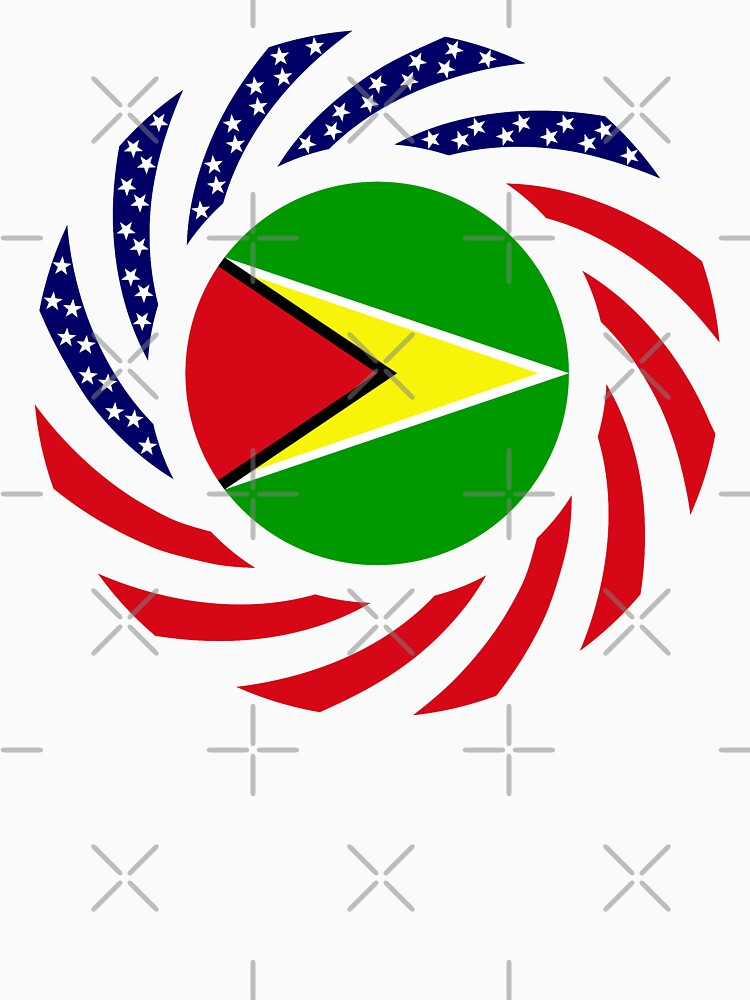 Guyanese American Multinational Patriot Flag  by carbonfibreme