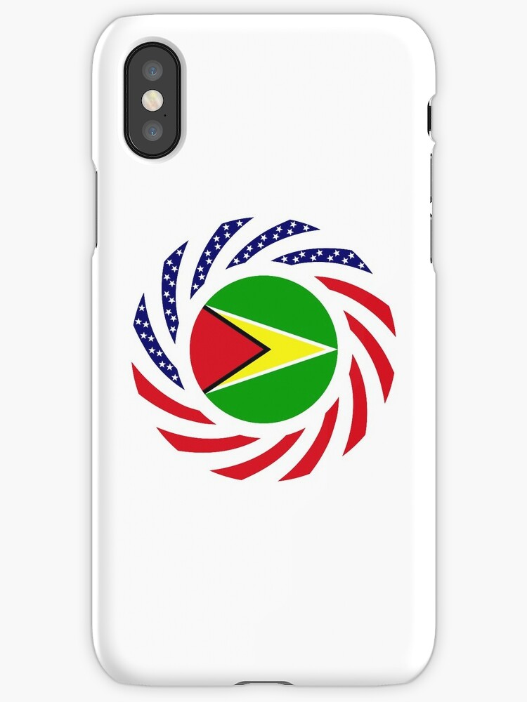 Guyanese American Multinational Patriot Flag  by Carbon-Fibre Media
