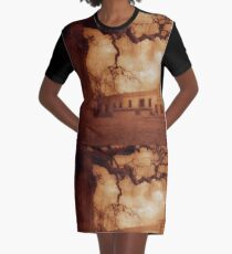 Old Winery Graphic T-Shirt Dress