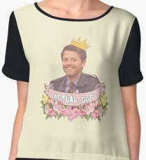Supernatural - Cas/Misha Women's Chiffon Top