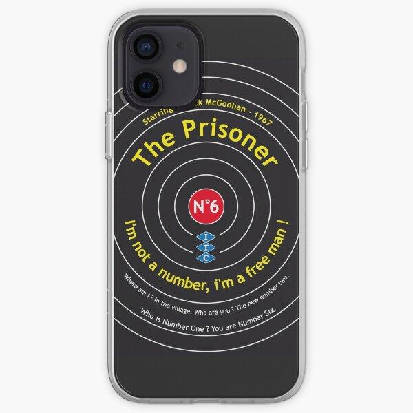 Le prisonnier numéro 6 McGoohan Portmeirion Design Vintage Poster Coque souple iPhone