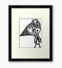 Buffy- angel's tattoo (black) Framed Print