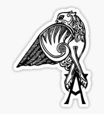 Buffy- angel's tattoo (black) Sticker