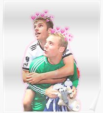 Neuer and Muller - German Football Poster