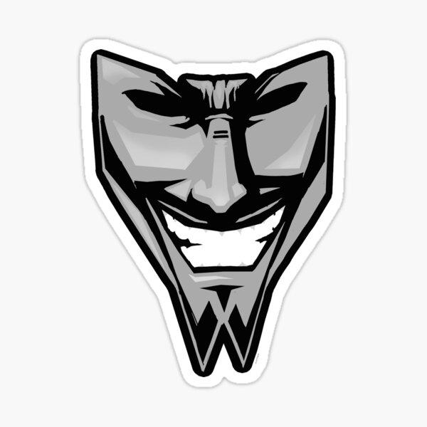 DAETRIX smiling mask Sticker
