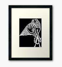 Buffy the Vampire Slayer - Angel's Tattoo (white) Framed Print