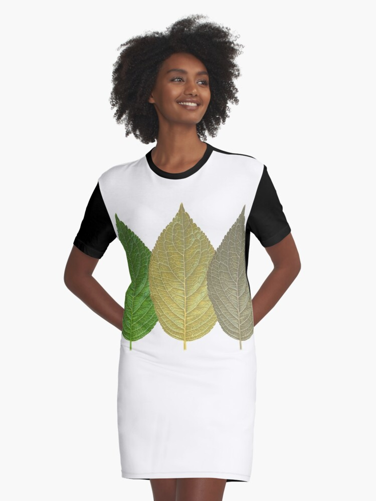 Leaf Getting Old Graphic T-Shirt Dress Front