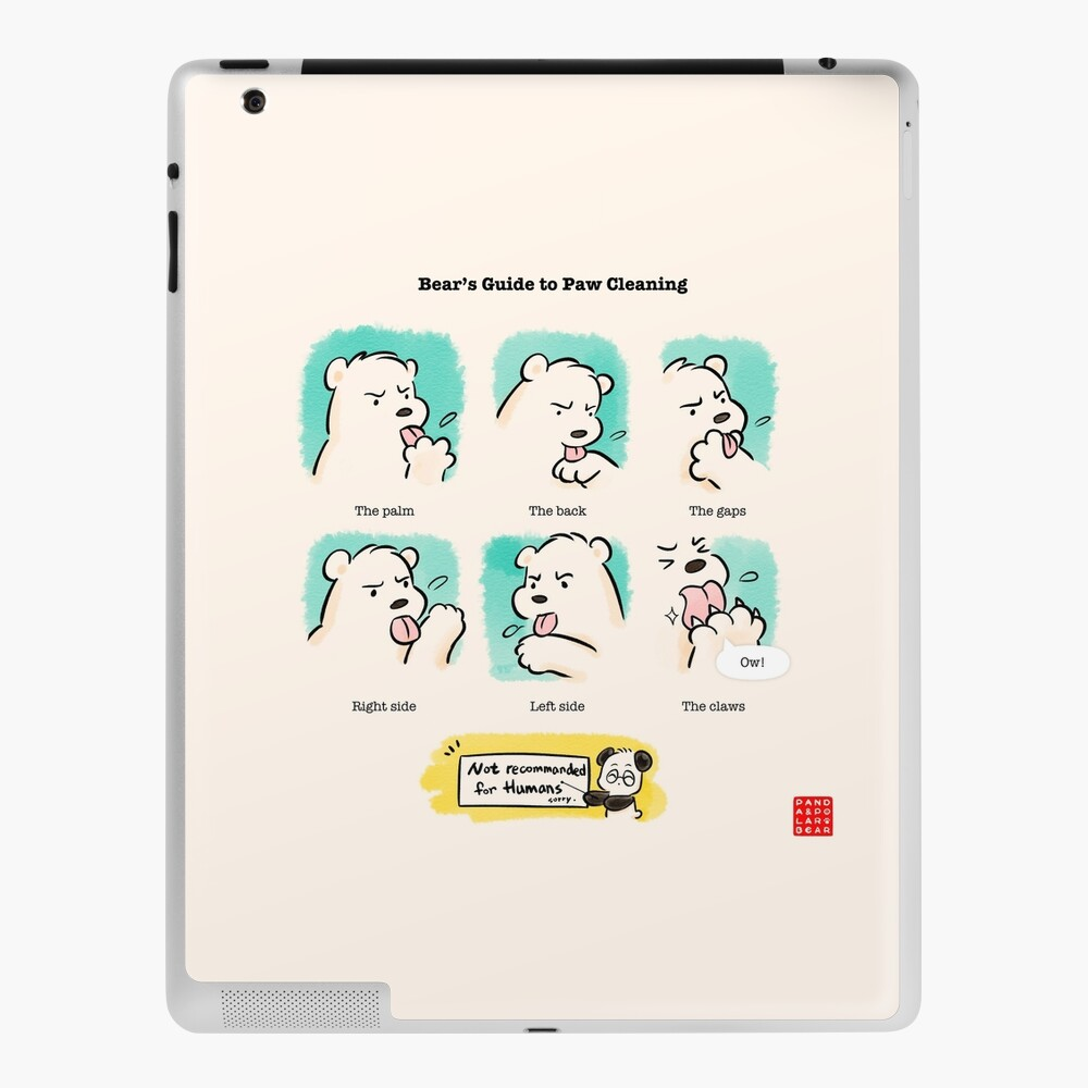 Bear's Guide to Paw Cleaning iPad Case & Skin