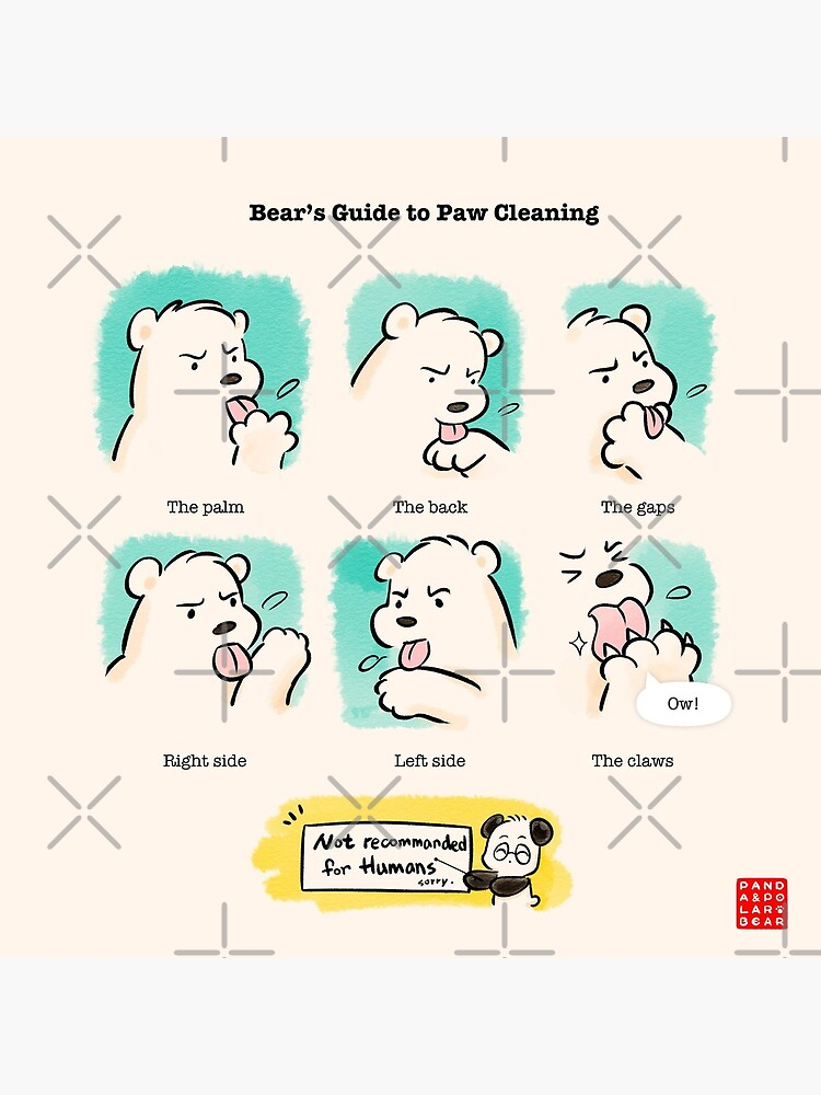 Bear's Guide to Paw Cleaning by PandaNPolarBear
