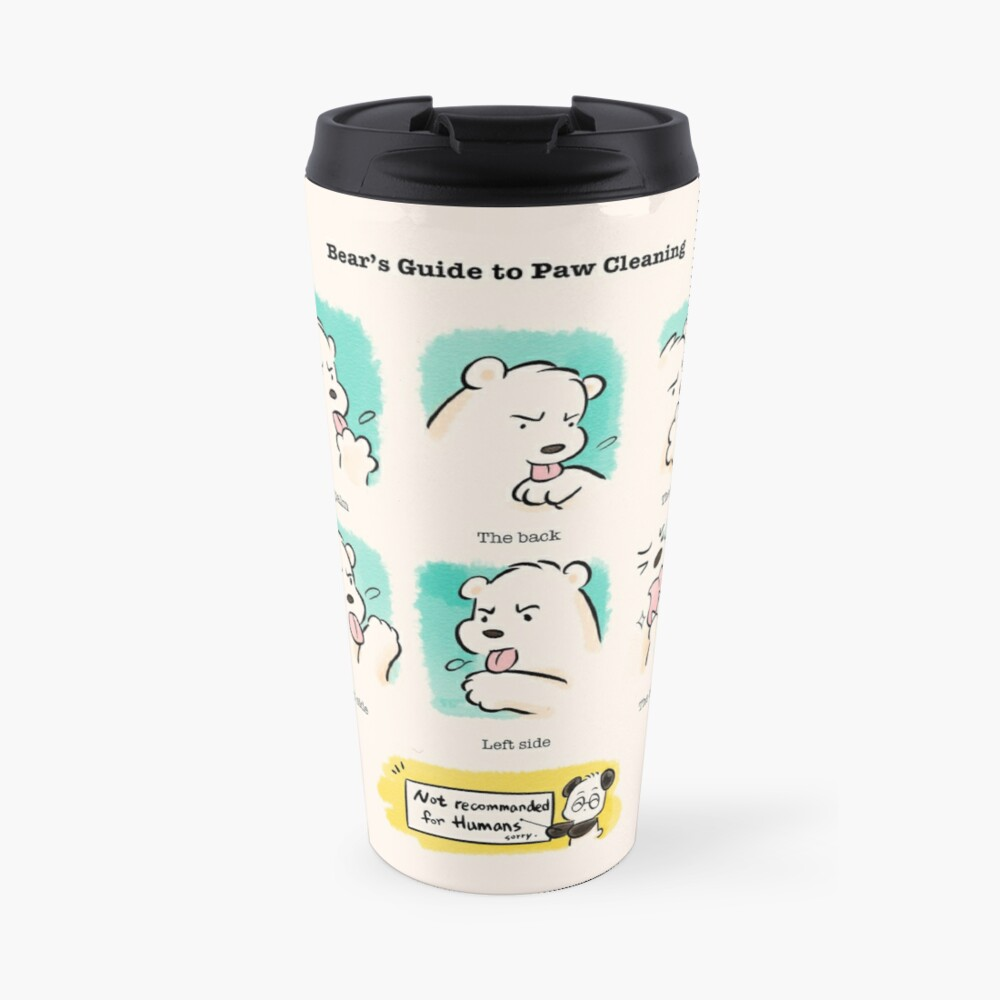 Bear's Guide to Paw Cleaning Travel Mug